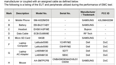 Galaxy A02 FCC Certification (1)