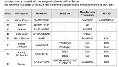 Galaxy M62 FCC Certification (1)