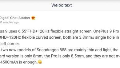 OnePlus 9 Series Display Specs