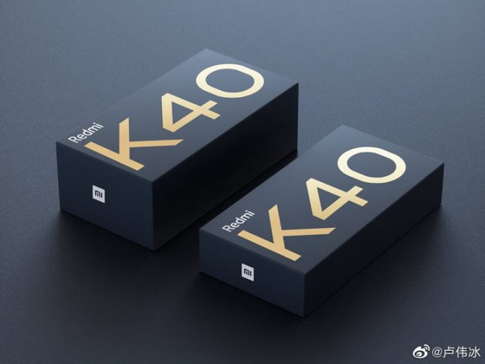 Redmi K40 packaging box leaked