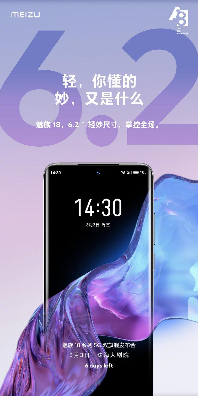 Meizu 18 Series Screen Size