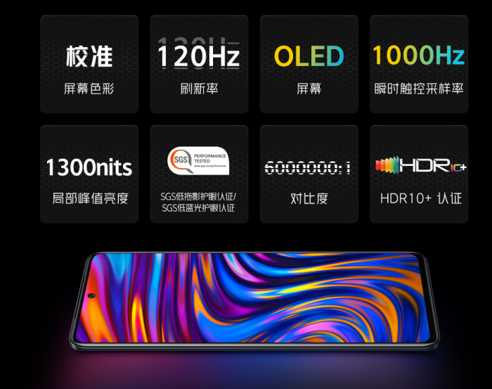 iQOO Neo5 comes with a 120Hz OLED screen and supports 1000Hz touch sampling rate