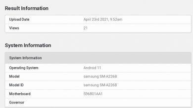 Galaxy A22 5G Geekbench