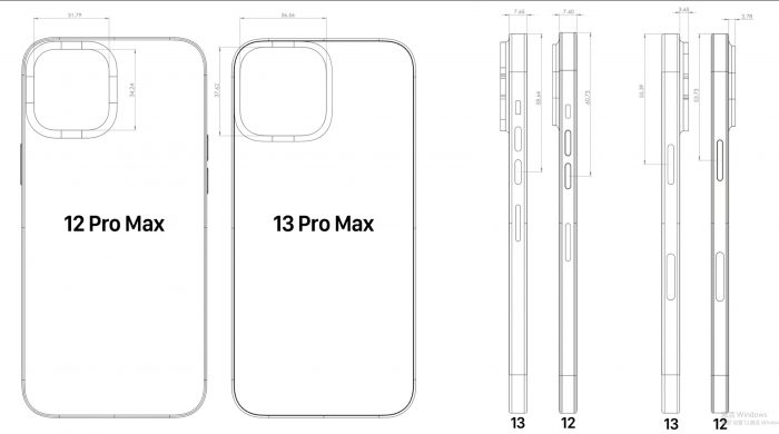 iPhone 13 Pro Max Dimensions