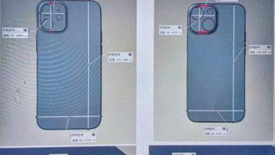 iPhone 13 mini CAD renders