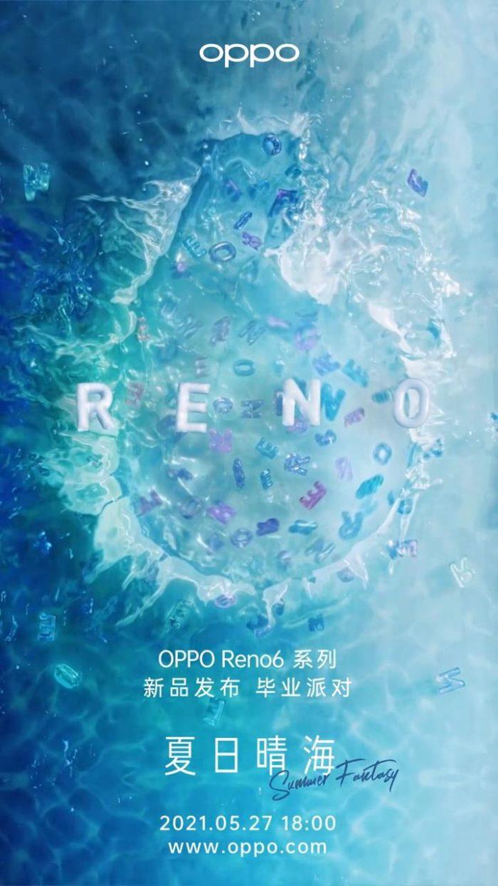 Reno6 Series Launch Poster